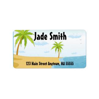Tropical Beach Address Labels