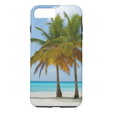 Beach Themed Tropical Beach and Palm Trees iPhone 7 Plus Case
