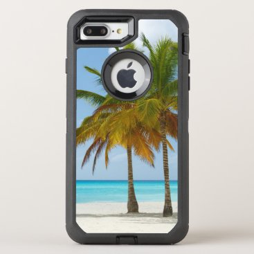 Beach Themed Tropical Beach and Palm Trees OtterBox Defender iPhone 7 Plus Case