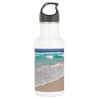 Tropical Beach and Sandy Beach Water Bottle