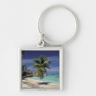 Tropical Beach, Anse Sourse D'Argent, La Digue Keychain