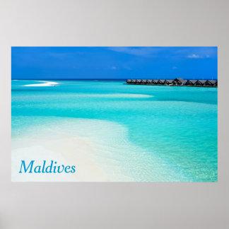 Tropical beach at Maldives Poster