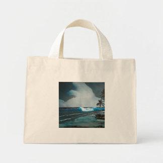 Tropical Beach at Night Tote Bag