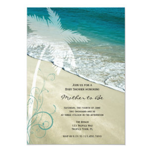 Beach baby shower invitations announcements zazzle tropical beach baby shower invitation filmwisefo Image collections