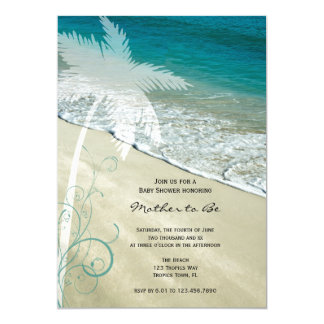 Tropical Beach Baby Shower Invitation