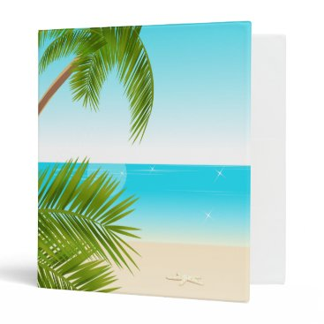 all_summer_products Tropical Beach Background Binder