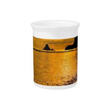 Beach Themed tropical beach beverage pitcher