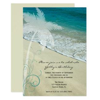 Tropical Beach Birthday Party Invitation