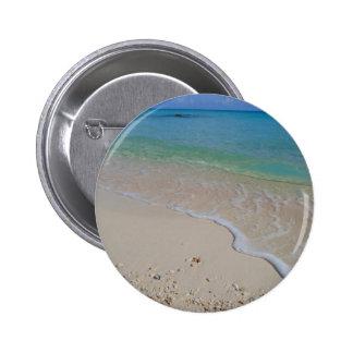 Tropical Beach Blue Waters Tahiti Button