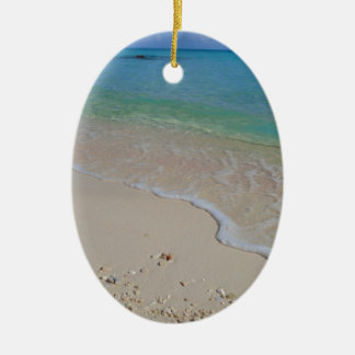 Tropical Beach Blue Waters Tahiti Ceramic Ornament