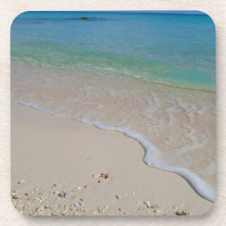 Tropical Beach Blue Waters Tahiti Coaster
