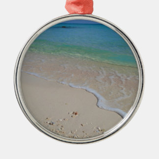 Tropical Beach Blue Waters Tahiti Metal Ornament