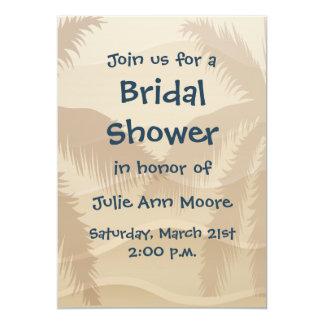 Tropical Beach Bridal Shower Card
