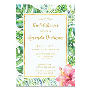 968c90b7415ece Tropical Beach Bridal Shower Invitation