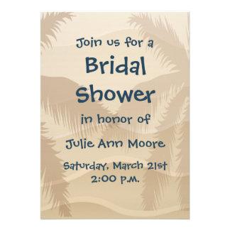 Tropical Beach Bridal Shower Announcements