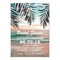 Tropical Beach Bridal Shower | String of Lights Invitation