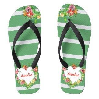 Tropical Beach Bridesmaid Flip Flops