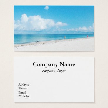Beach Themed Tropical Beach Business Card
