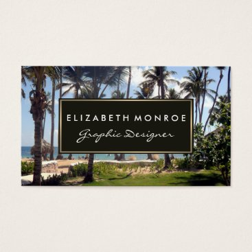 Professional Business Tropical Beach Business Card