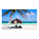 Tropical beach Double-Sided standard business cards (Pack of 100)
