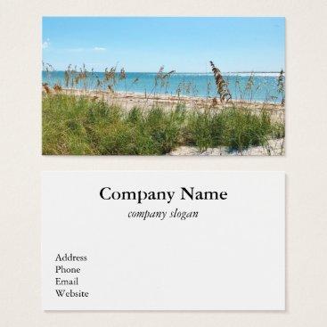Beach Themed Tropical Beach Business Card