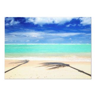 Tropical beach card