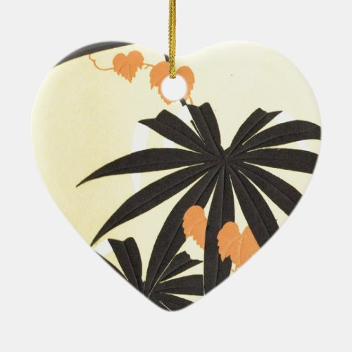 Tropical beach christmas ornament