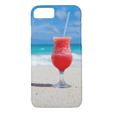 Beach Themed Tropical beach cocktail drink iPhone 8/7 case