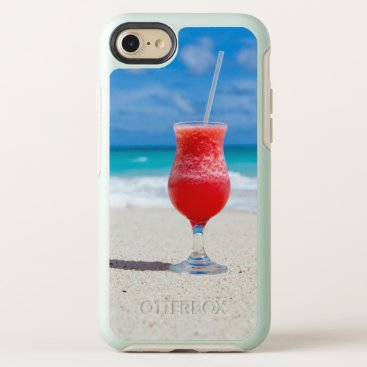 Beach Themed Tropical beach cocktail drink OtterBox symmetry iPhone 8/7 case
