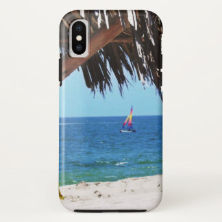 Tropical Beach Colorful Sailboat iPhone X Case