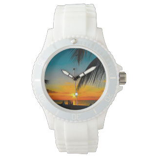 Tropical Beach Colorful SUNSET Ladies Sporty Watch