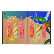 Tropical Beach Colorful Surfboards Powis iPad Air 2 Case