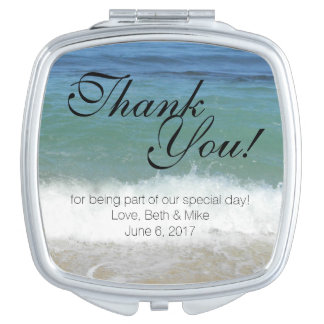 Tropical Beach Compact Thank You! Vanity Mirror
