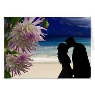 Tropical Beach Couple Card