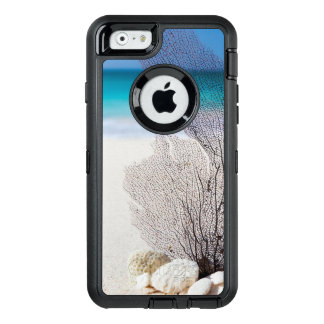 Tropical Beach decorated with Shells and a Seaweed OtterBox Defender iPhone Case