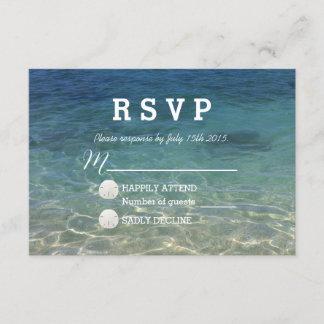 Tropical Beach Destination Summer Wedding RSVP