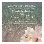 """Tropical Beach Destination Wedding Invitation 5.25"""" Square Invitation Card"""