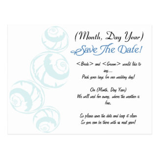 Tropical/Beach/Destination Wedding Save the Date Post Cards