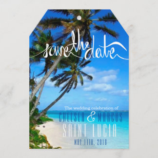 Tropical Beach Destination Wedding Save the Dates Save The Date