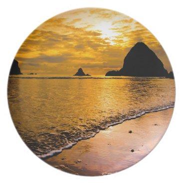 Beach Themed tropical beach dinner plate