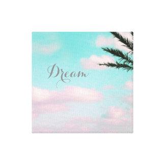 Tropical Beach, Dream, Ocean View, Palm, Beautiful Canvas Print