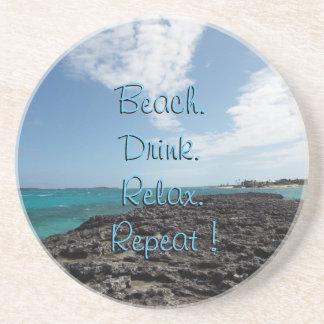 Tropical Beach Drink Coaster