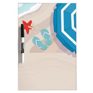 Tropical beach Dry-Erase board