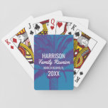 "Tropical Beach Family Reunion Playing Cards<br><div class=""desc"">Personalize these vibrant palm tree family reunion playing cards with your family reunion name,  location and year. Perfect for a summer destination family reunion at a beach house,  tropical island or cruise ship. Buy one for each family member.</div>"