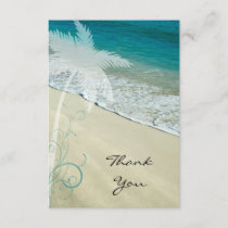Tropical Beach Flat Thank You Note Card