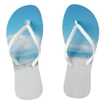Beach Themed Tropical Beach Flip Flops
