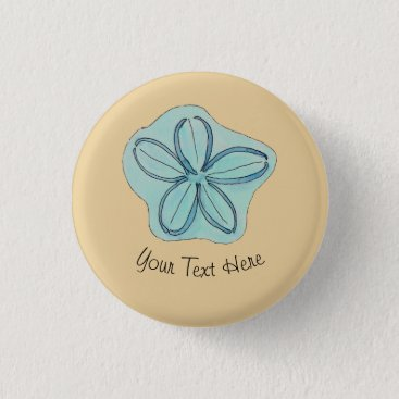 Beach Themed Tropical Beach Flower Pinback Button