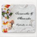 Tropical Beach Flowers/Shells Mousepads