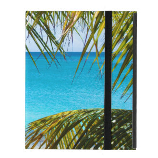 Tropical Beach framed with Palm Fronds iPad Cases