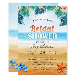 Tropical Beach Hawaiian Summer Bridal Shower Card